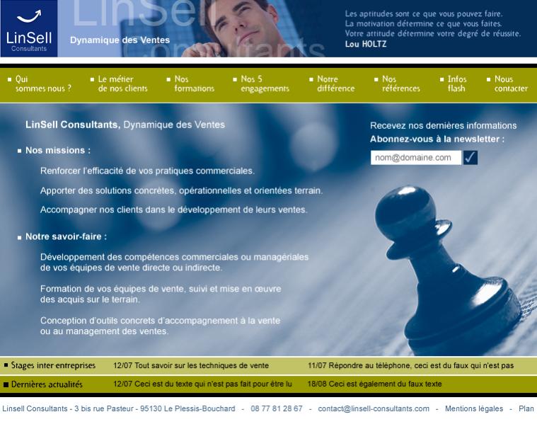 Linsell Consultants – Dynamique des Ventes