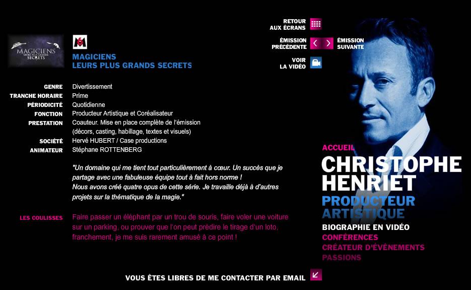 Christophe HENRIET – producteur artistique