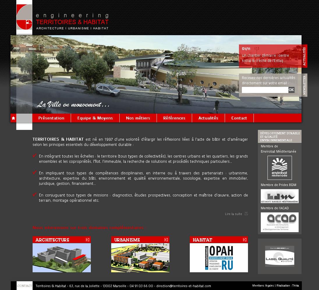 Territoires & Habitat : page d'accueil