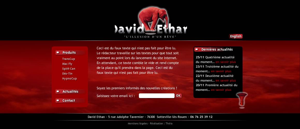 David ETHAN – créateur d'effet magique