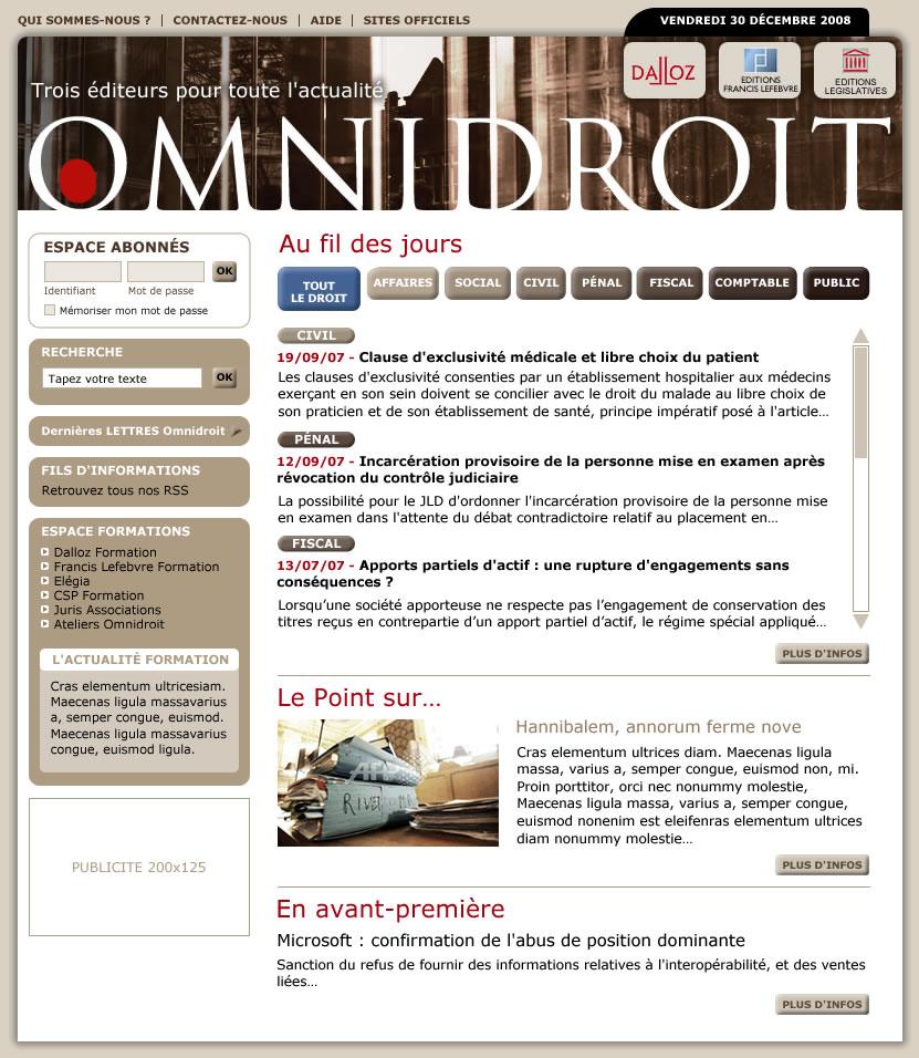 Editions Francis Lefebvre Dveloppement Internet Omnidroit Site Juridique
