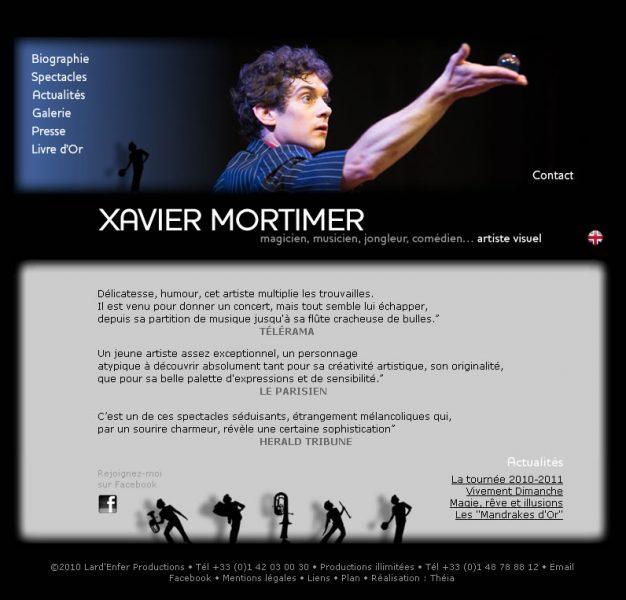 Page d'Accueil de Xavier MORTIMER